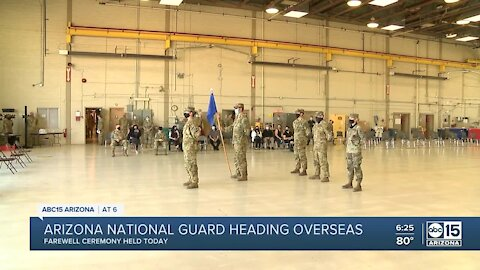 Arizona National Guard heading overseas