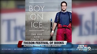 """Author John Branch talks about his book """"Boy on Ice"""" at the Tucson Festival of Books"""