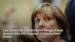 Lois Lerner: My Life Will Be In Danger if Real Reason Why IRS Targeted Tea Party Goes Public