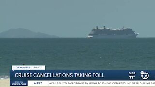 Cruise cancellations taking toll locally