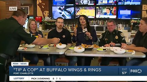 Charlotte Co. Tip a Cop fundraiser at Port Charlotte Buffalo Wings & Rings