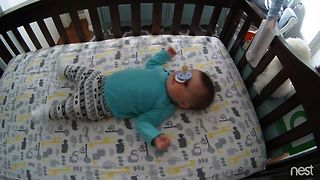 Baby's Pacifier Flip Trick - Video