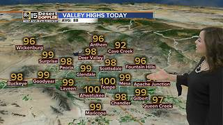 Triple digits possible in parts of the Valley - Video