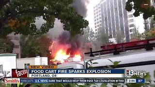 Food carts explodes in Oregon - Video