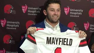 Baker Mayfield introduced as member of Browns