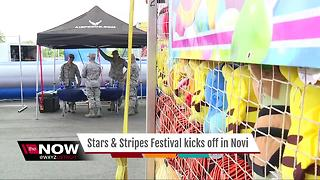 Stars and Stripes Festival kicks off in Novi - Video
