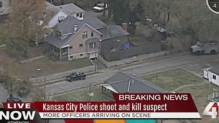 Kansas City police shoot suspect - Video