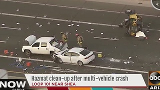 Six car crash on Loop 101 in Scottsdale - Video
