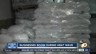 Businesses boom during heat wave - Video