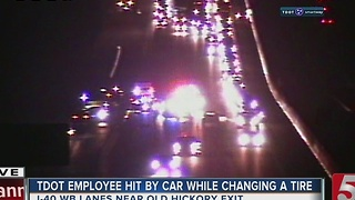 TDOT Employee Hit On Interstate 40 - Video