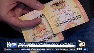 Mega Millions and Powerball Jackpots top $800M - Video