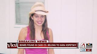 Bones found in Cass Co. belong to Kara Kopetsky - Video
