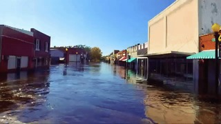 Drone Video Shows Town of Fair Bluff Still Under Water - Video