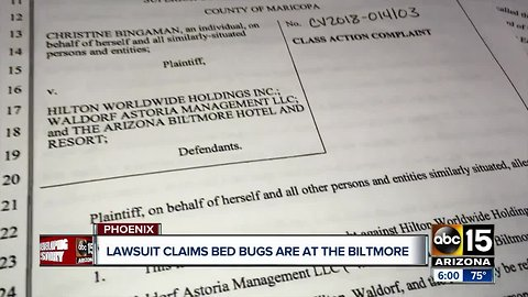 Lawsuit claims bedbugs were at the Biltmore Hotel