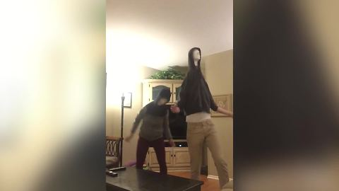 Two Funny People Dance The Mannequin Heads Dance