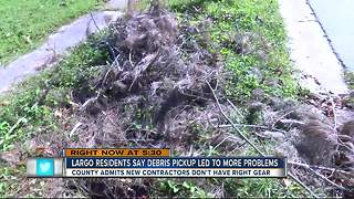 Largo residents say debris pickup led to more problems - Video