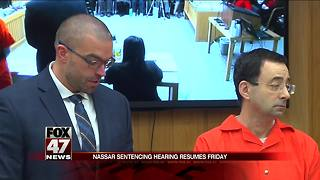 Nassar in court today for sentencing hearing - Video