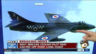 Pilot ejects 80 miles off the coast of Point Loma - Video