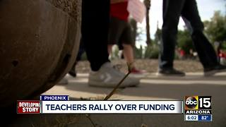 Arizona teachers rally over funding - Video