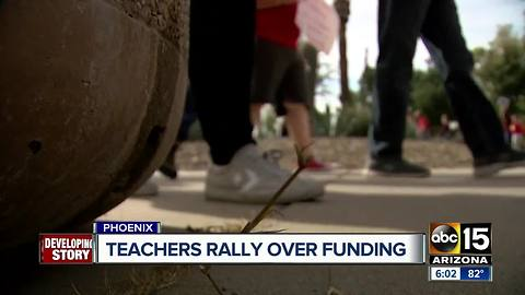 Arizona teachers rally over funding