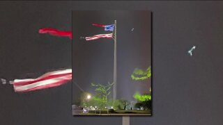 World's largest free-flying American flag damaged after strong winds