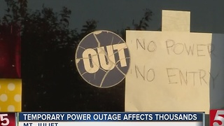 Power Restored After Substation Goes Down - Video