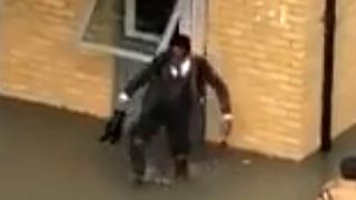 Determined London Schoolboy Won't Let Flooding Keep Him From Class - Video