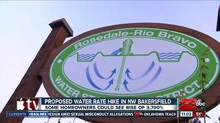 Proposed water tax hike for Rosedale Rio Bravo residents - Video