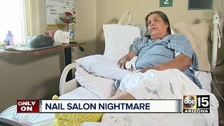 Valley woman gets major infection after nail salon visit - Video