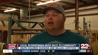 Local businessman gives back to community through showing and selling of livestock