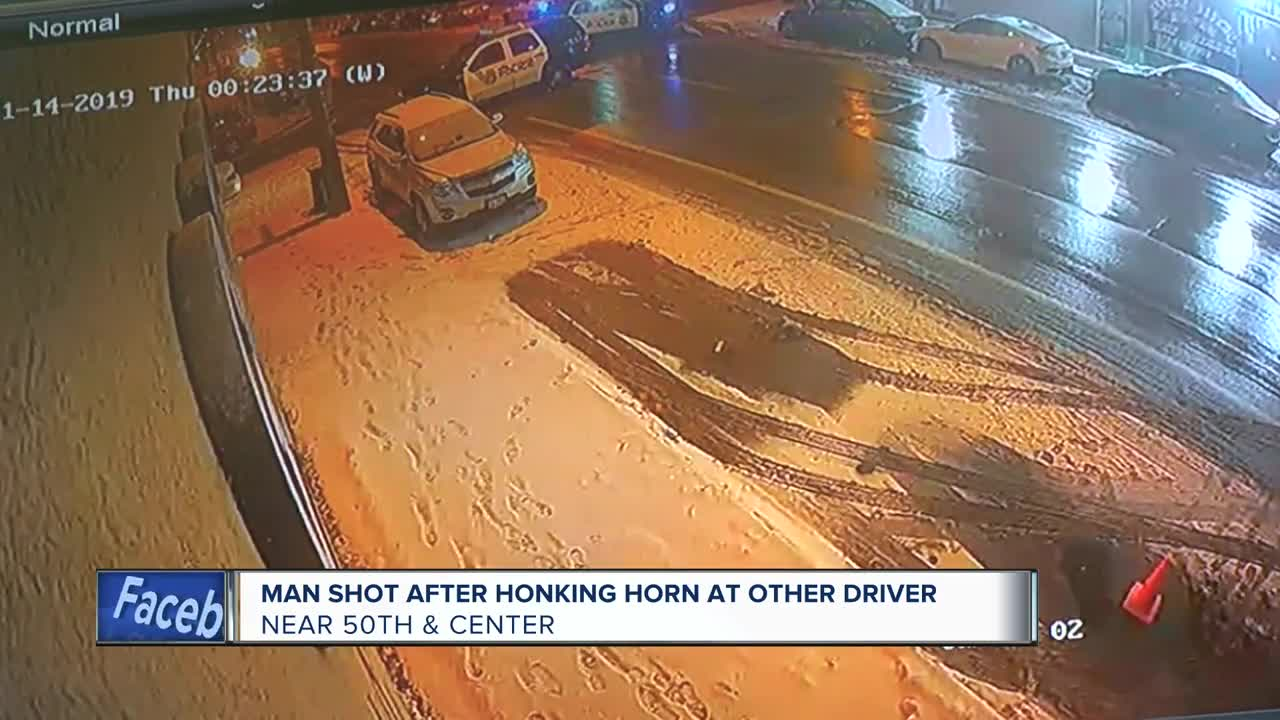 Man shot after honking horn at other driver