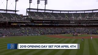 Tigers Opening Day 2019 set for April 4