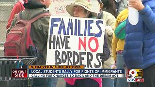 Xavier University students, DACA recipients rally Downtown for immigration reform - Video