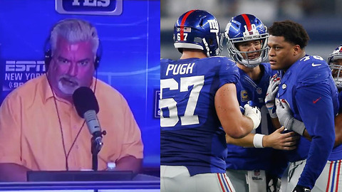 "ESPN Analyst TRASHES Giants O-Line: ""They SUCK, That's the Stat!"""