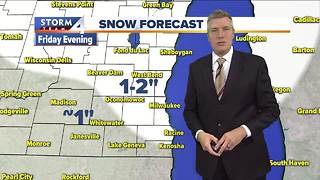 Snowy weather on the way Friday - Video