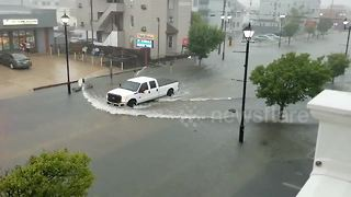 Severe storms bring floods to the Jersey Shore - Video