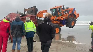 Lost Cargo Containers Wash Up on Dutch Islands - Video