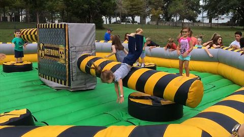 Girl Epically Fails At Inflatable Obstacle Course