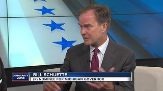 Republican gubernatorial nominee Bill Schuette visits WXYZ to discuss his big win - Video