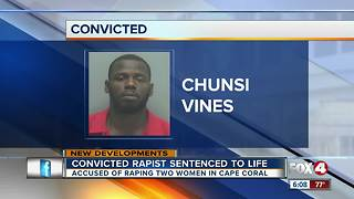 Convicted rapist sentenced to life in prison in Lee County - Video