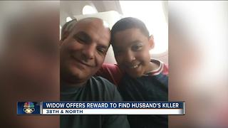 Widow offers reward to find husband's killer - Video