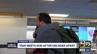 Valley man meets son for the first time