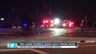 Teen learns powerful lesson about driving drunk - Video