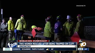 Two women rescued after being trapped on cliff