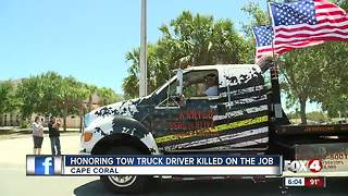 Honoring tow truck driver killed on the job - Video