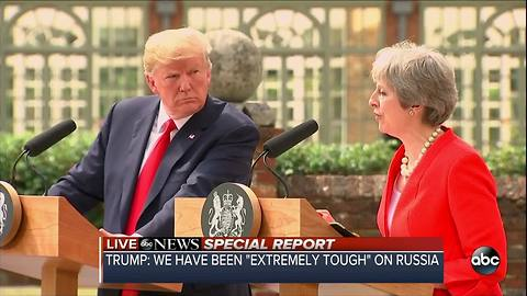 Special Report | President Trump holds joint press conference with U.K. Prime Minister Theresa Way