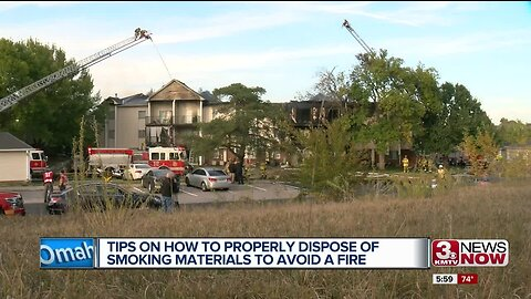 Avoid Starting a Fire With Smoking Materials