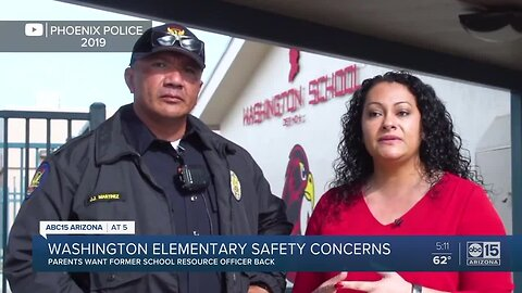 Parents at Washington Elementary want school resource officer back
