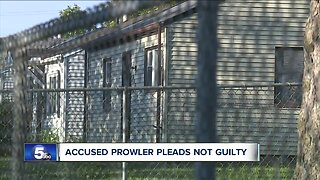Accused prowler pleads not guilty
