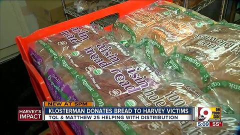 Klosterman Baking Company Teams Up to Help Harvey Victims